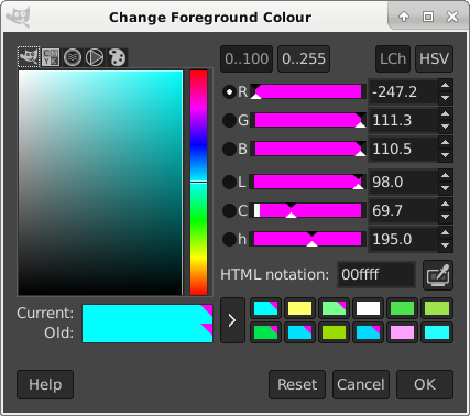 Foreground Colour Tool