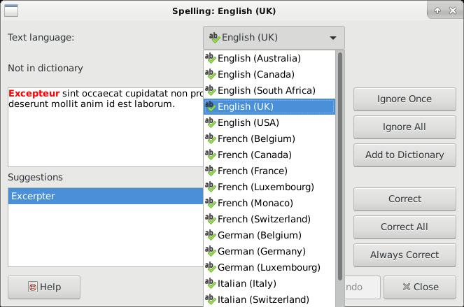 Spelling Languages